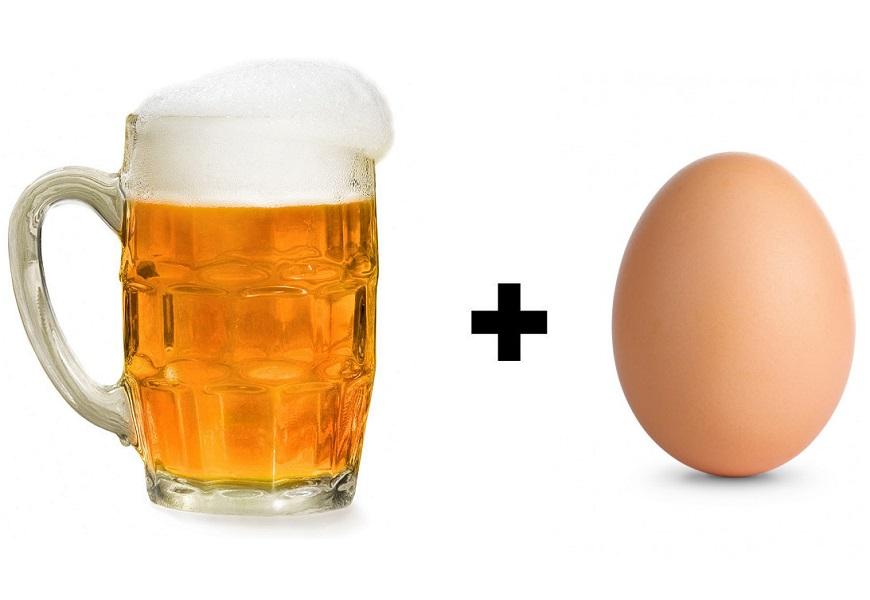 Пиво и яйцо