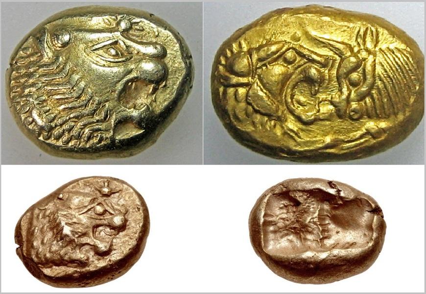 Первые чеканные монеты