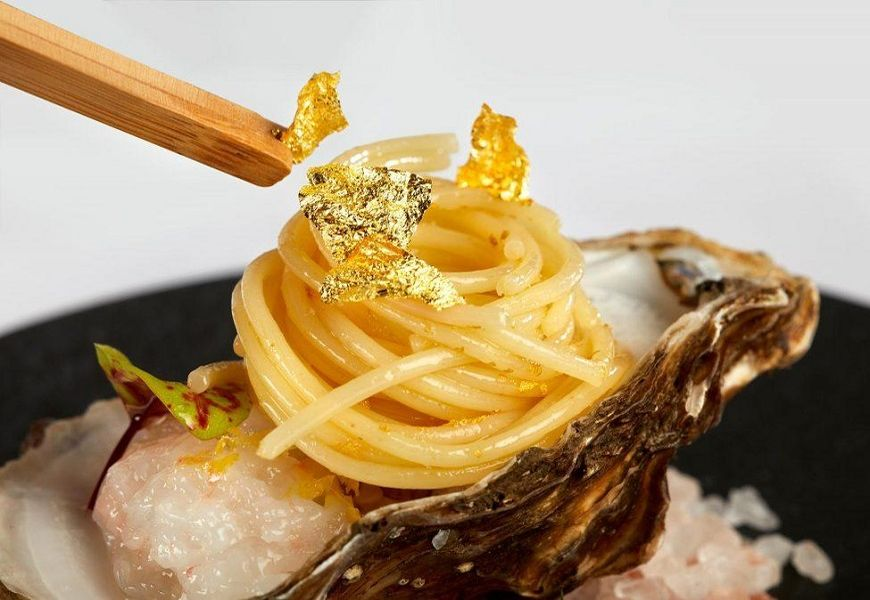 Золото в кулинарных изысках