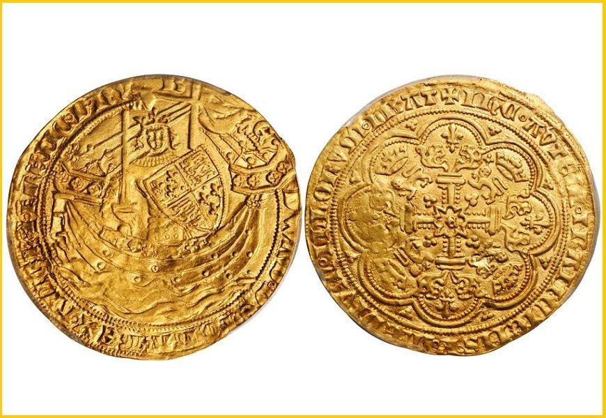 Монета флорин Эдварда III