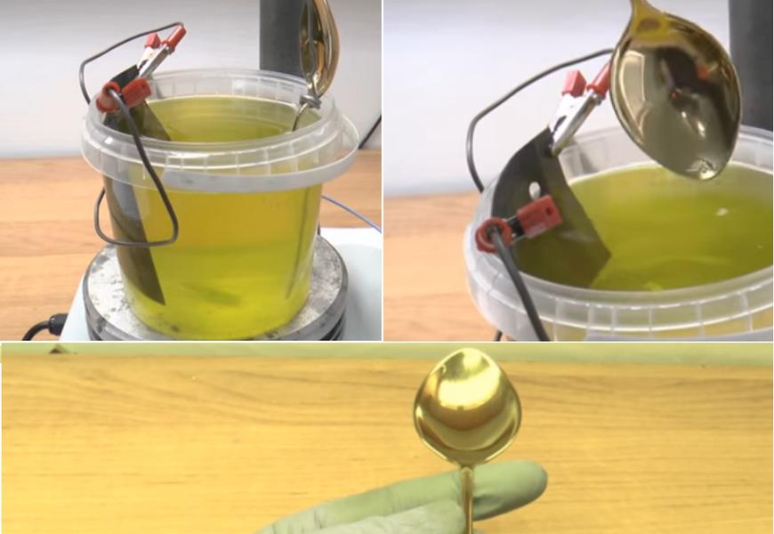 Гальванический метод золочения