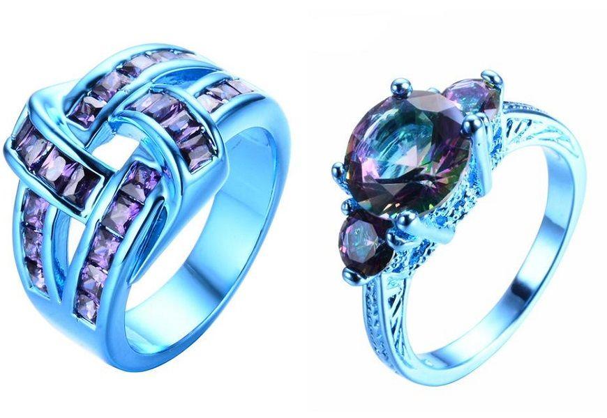 Золотые кольца 585 и 750 пробы