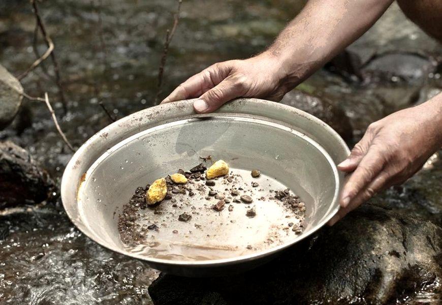 Добыча камня пирит