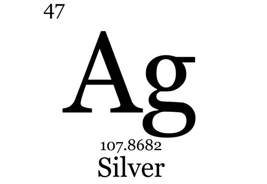 Серебро в таблице Менделеева название по-русски?