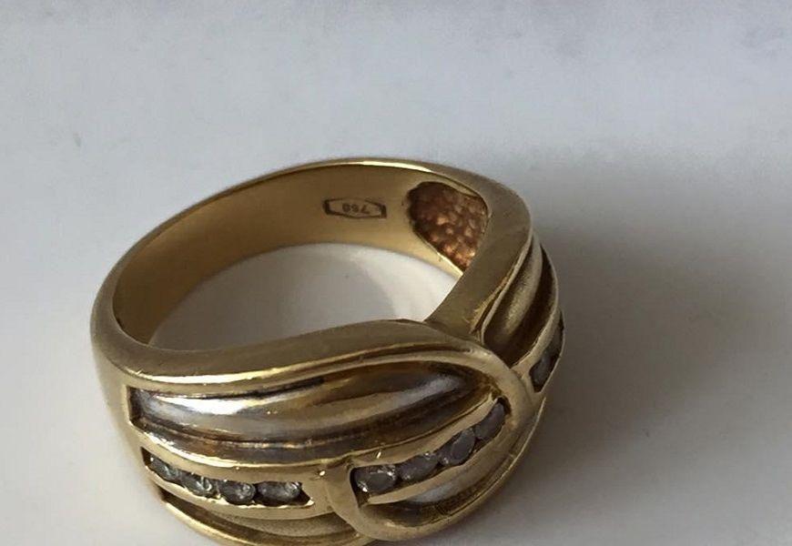 Кольцо золотое 750 пробы с бриллиантами
