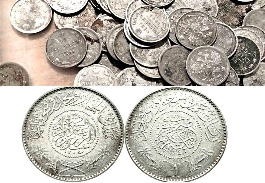 Способы очистки серебряных монет
