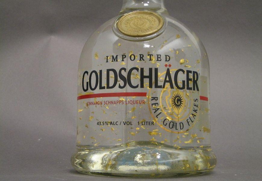 Золотые хлопья в алкогольных напитках