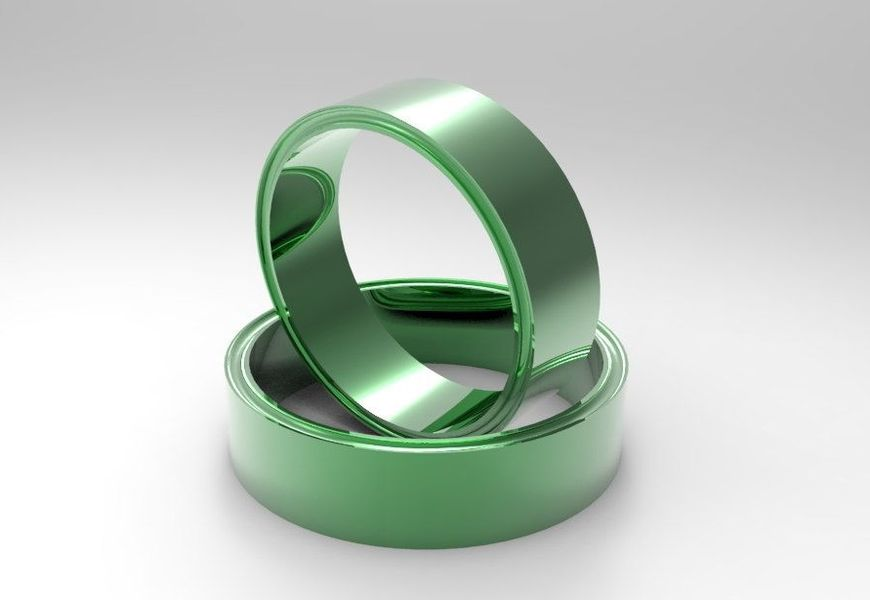 Кольца из зеленого золота