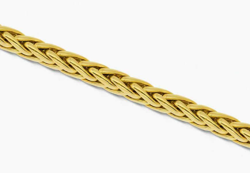 Золотая цепочка плетение Колос