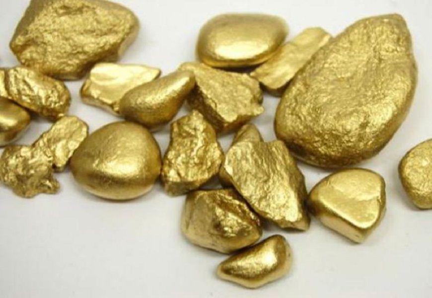 Золото в камне