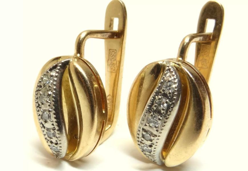 Золотые украшения советского времени 585 пробы