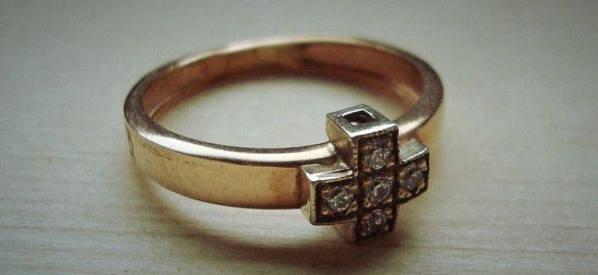 Кольцо золотое 555 пробы