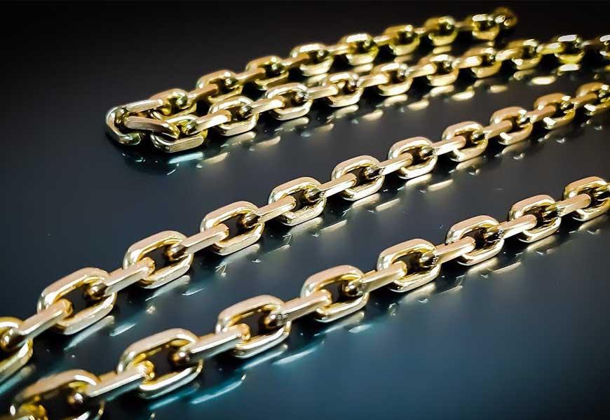 Плетение цепочки якорная цепь