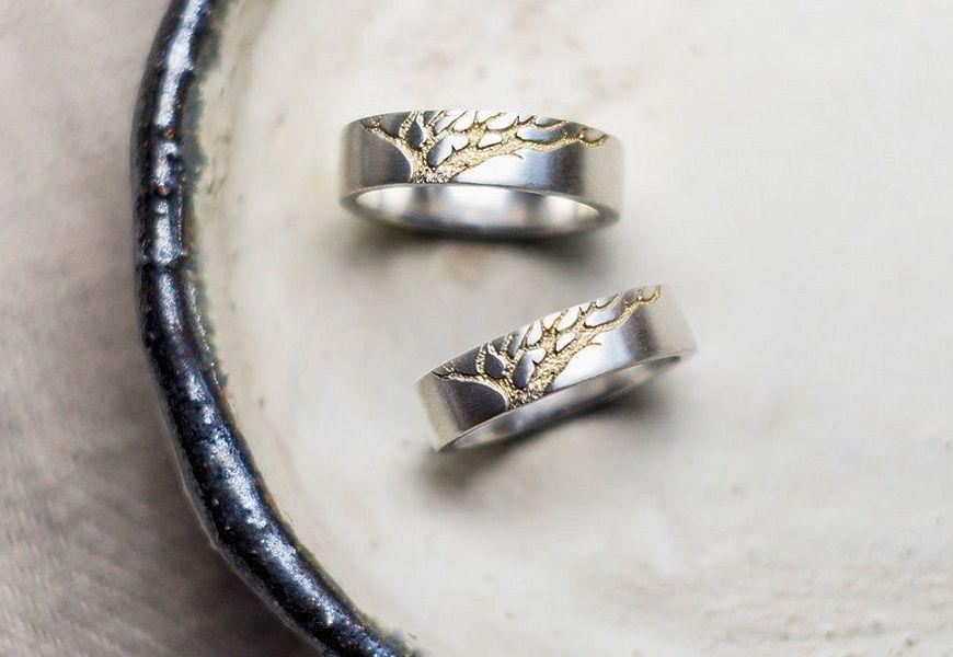 Золотое Древо обручальные кольца