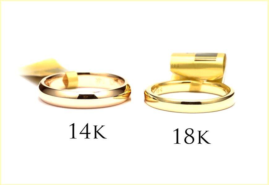 Разница между 14 и 18 каратами — цвет, чистота, твёрдость и долговечность, маркировки