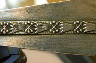 916 проба: золото или позолоченное серебро