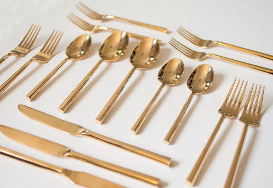 Как чистить столовые приборы из позолоченного серебра: ложки, вилки, ножи