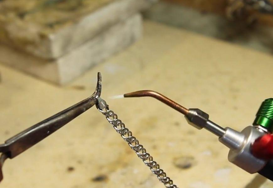 Техника пайки серебряной цепочки паяльником