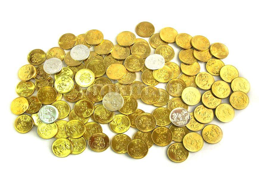 Удаление позолоты с монеты