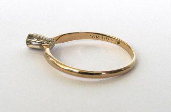 Проба на кольце с бриллиантом