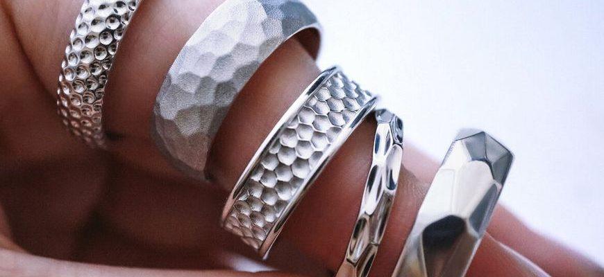 Кольца из платины и серебра